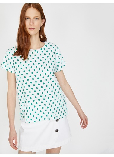 Koton Puantiyeli T-Shirt Yeşil